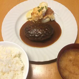 洋食UCHOUTEN 黒毛和牛ハンバーグ(ライス、味噌汁付き)