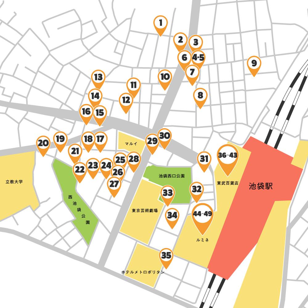 西口エリア マップ表示
