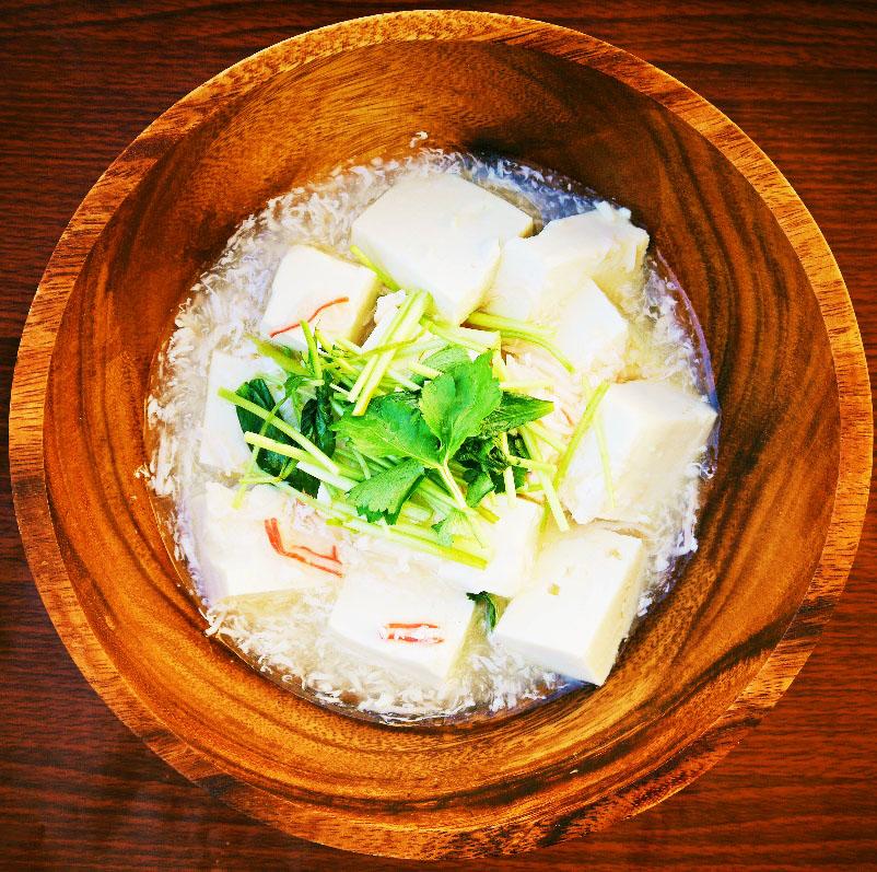 三つ葉のかに風味豆腐