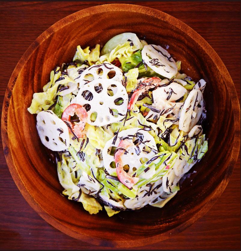 春キャベツとひじきのサラダ