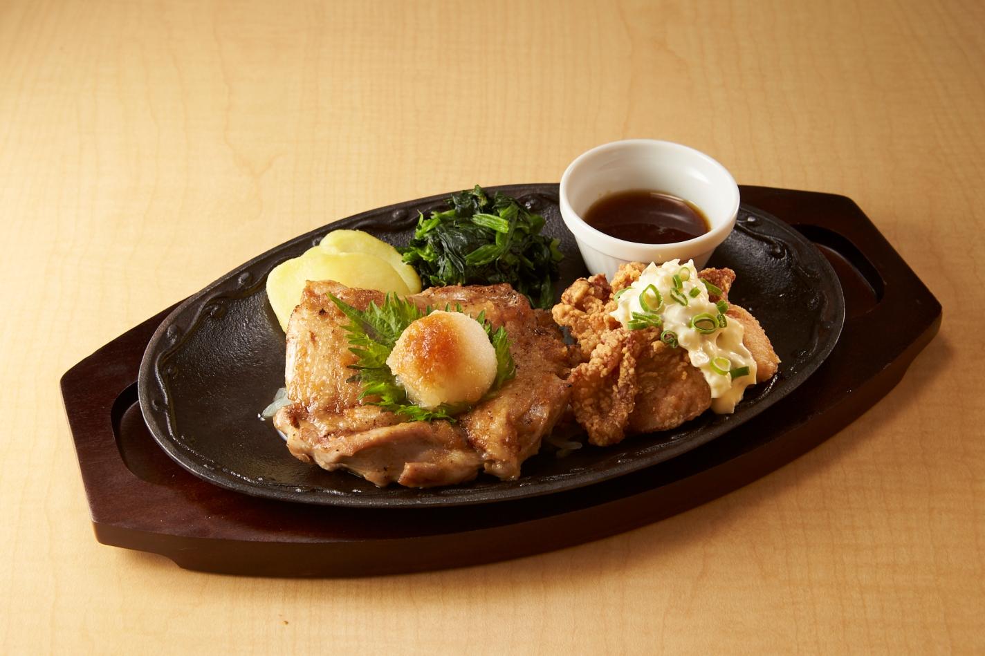 デニーズ Wチキン~マテ茶鶏のチキンステーキ&タルタルチキン唐揚げ