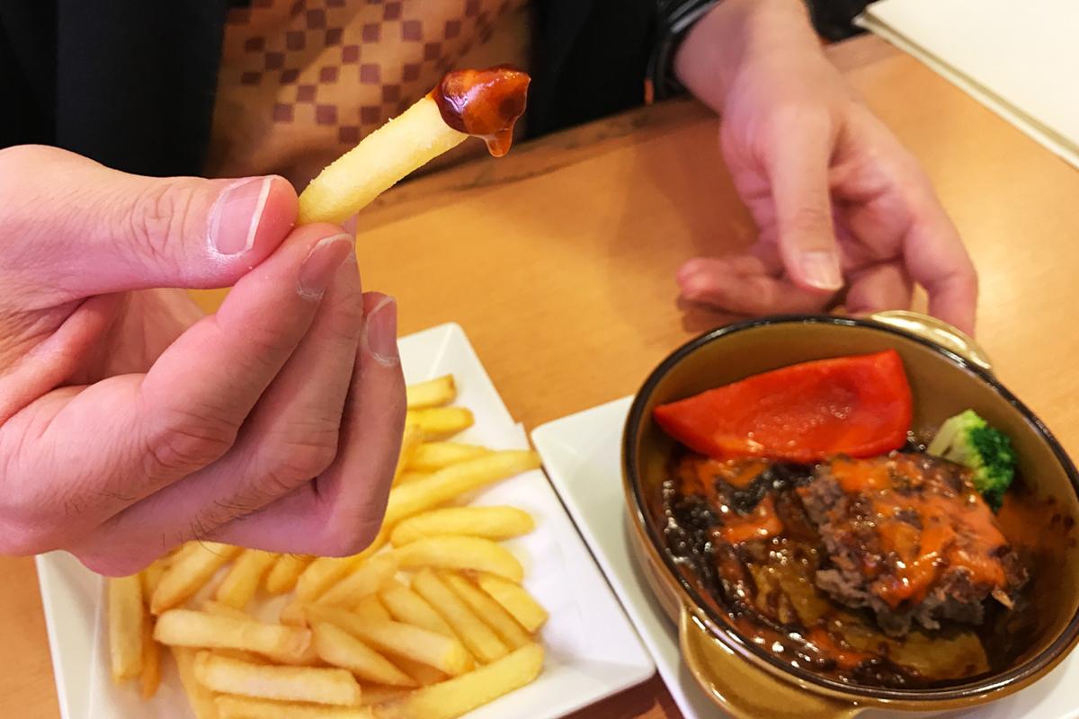 かっぱ寿司 チーズデミグラス フライドポテト