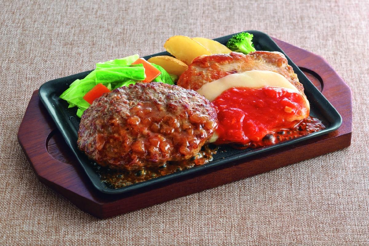 ジョイフル ハンバーグ&チキンコンボフェア ハンバーグ&チキンイタリアンステーキ