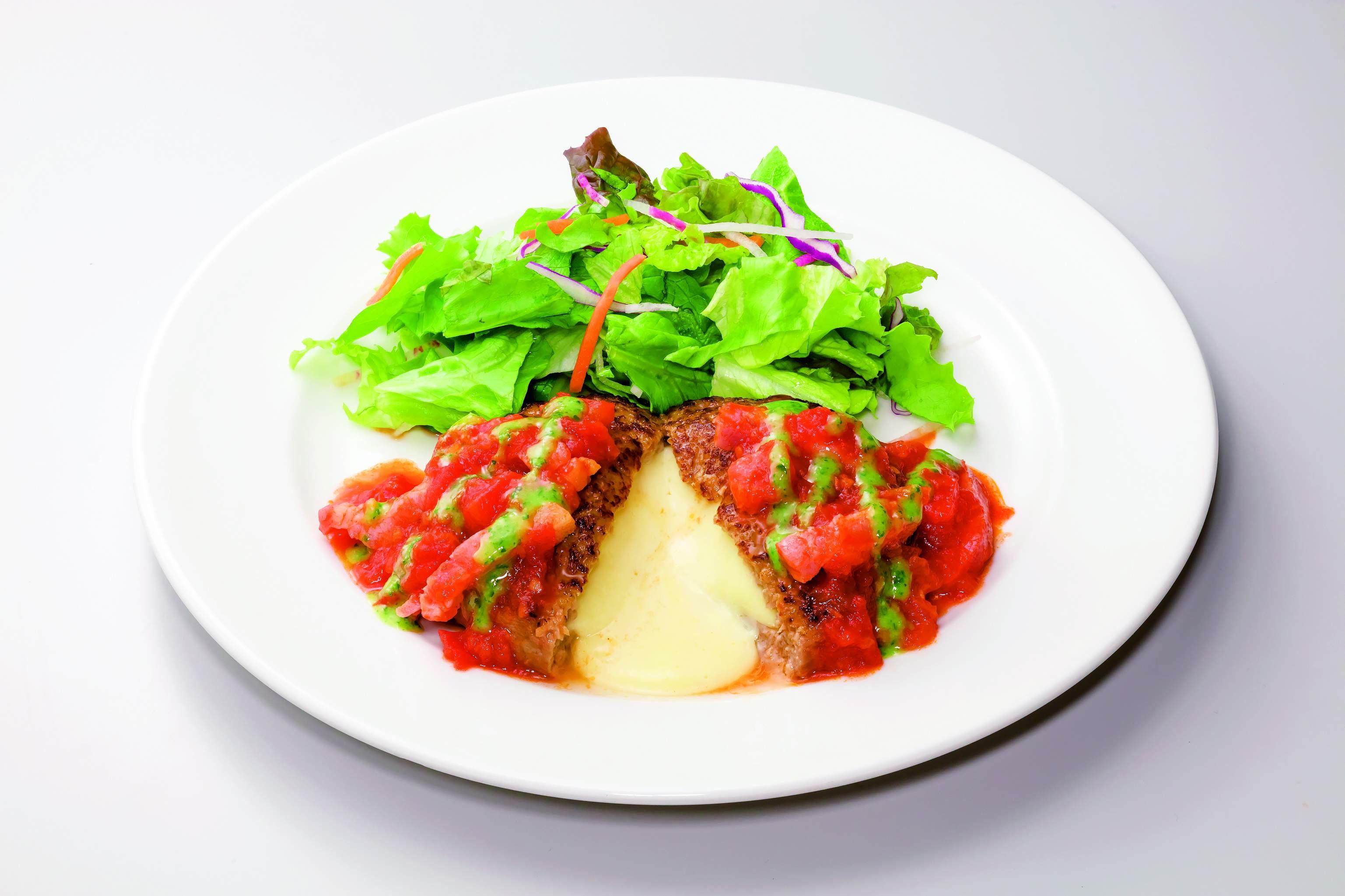 ガスト トマトとバジルのイタリアンチーズINハンバーグ
