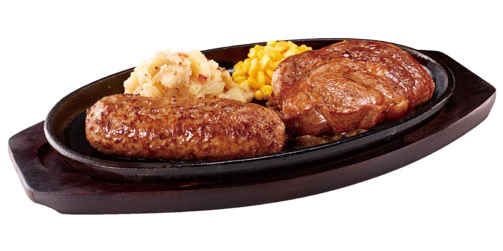 ブロンコビリー 極み炭焼き ブロンコハンバーグ&炭焼き 極選リブロースステーキコンビセット