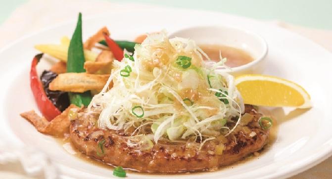 ガスト 夏野菜とねぎ塩レモンハンバーグ