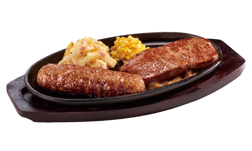 ブロンコビリー 極み炭焼き ブロンコハンバーグ&炭焼き ローストサーロインステーキセット
