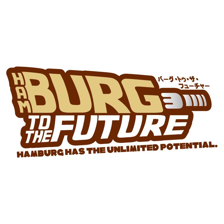 日本ハンバーグ協会 バーグ・トゥ・ザ・フューチャーロゴ