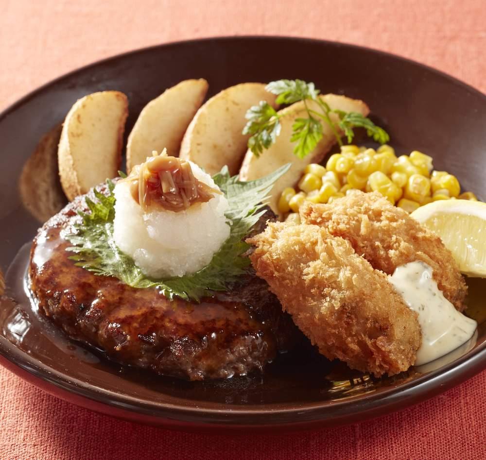 ジョナサン 100%ハンバーグ&広島産牡蠣フライ和風おろしソース