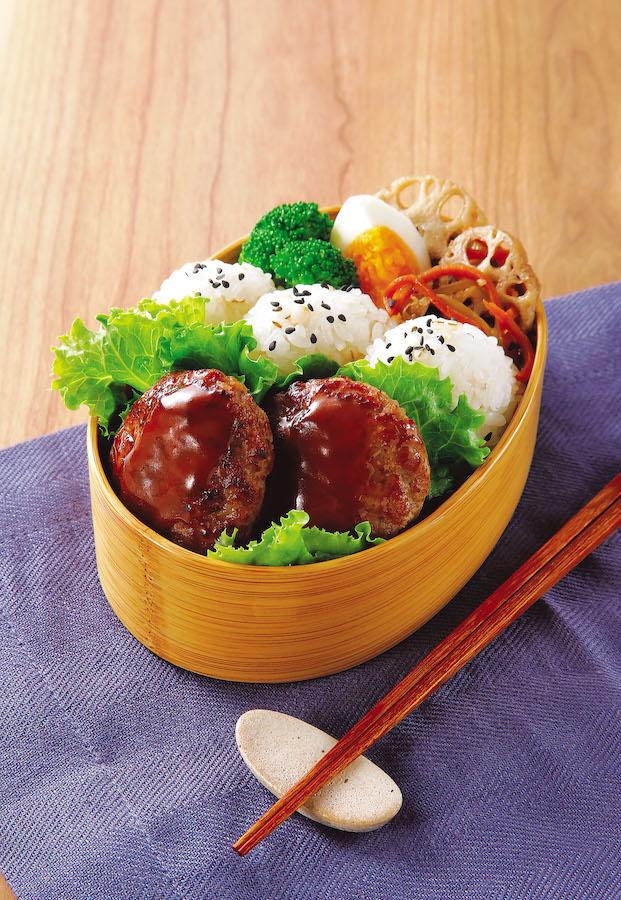 クイーンズ伊勢丹 ハンバーグステーキ お弁当イメージ