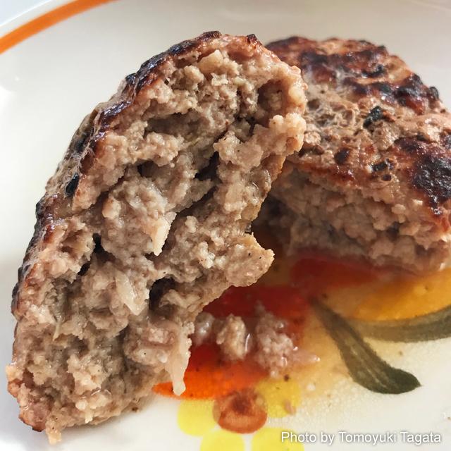 伊勢丹 小麦と卵を使わずに作った糖質カットハンバーグ 断面