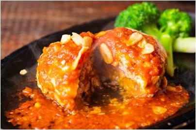 ボングーハンバーグ ガーリックトマトチーズハンバーグ
