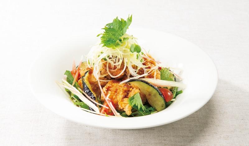 デニーズ 香味野菜の生姜醤油 鶏の唐揚げ