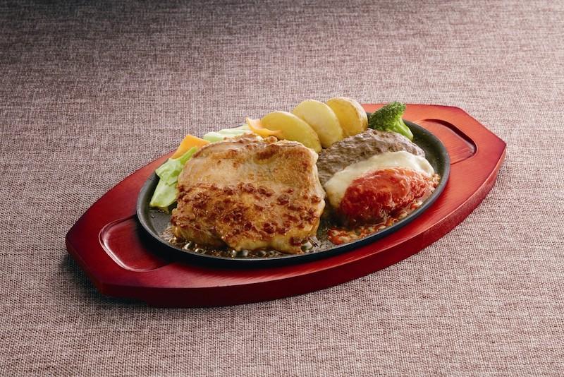 ジョイフル チキンステーキ&しんけんチーズハンバーグ