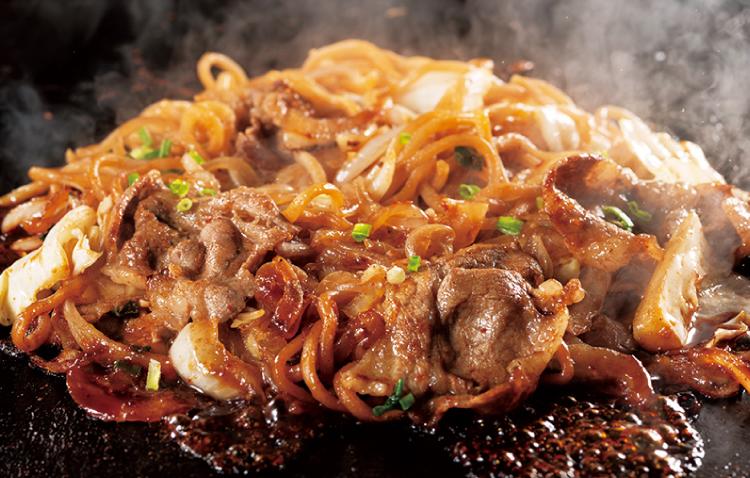 道とん堀 十和田バラ焼き風焼きそば こだわりの粉もん肉料理