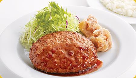 ジョイフル テイクアウト ハンバーグ&唐揚げ弁当