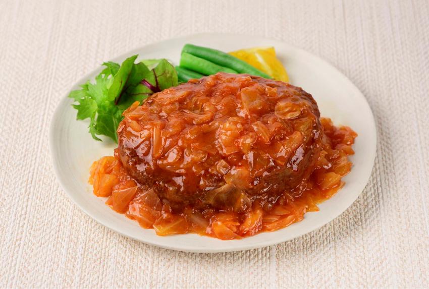 石井食品 地域商品 神奈川三浦のキャベツを使ったトマトソースハンバーグ イメージ