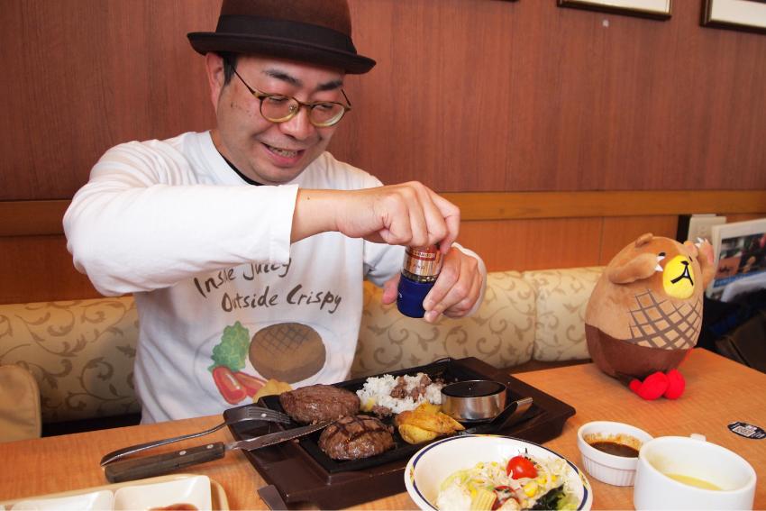 ステーキガスト 牛っとこぶしハンバーグ 肉汁ライス