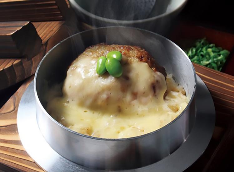 釜寅 格之進 格之進ハンバーグ(チーズ)釜飯 コラボメニュー