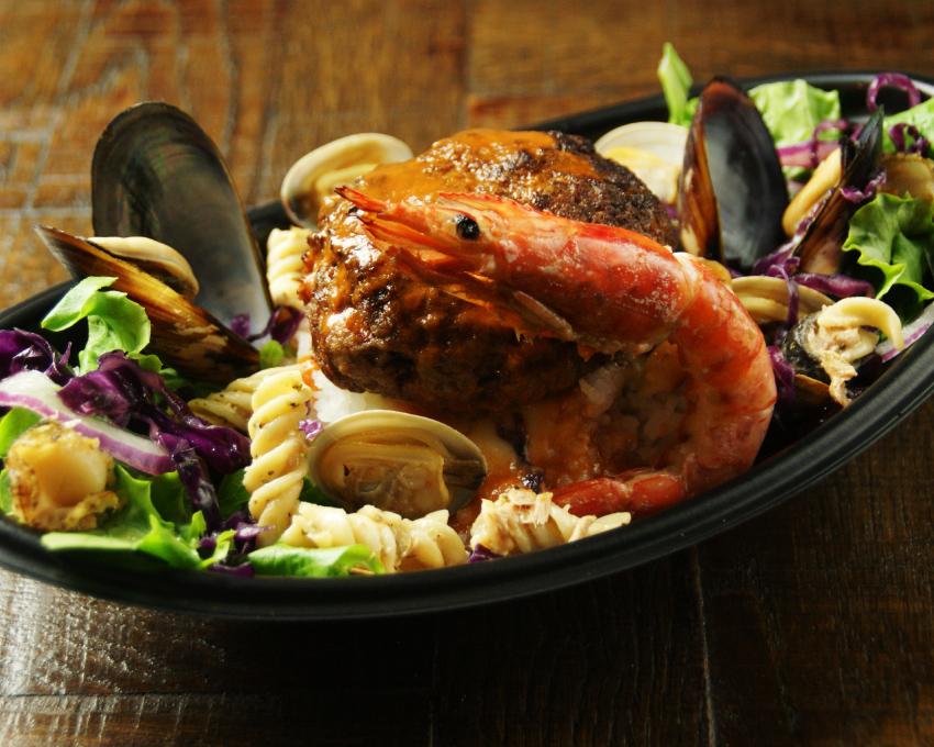 世界を旅するハンバーグ丼 贅沢!具沢山ブイヤベース仕立て・フレンチ テイクアウト 勝どきハンバーグ&ステーキR
