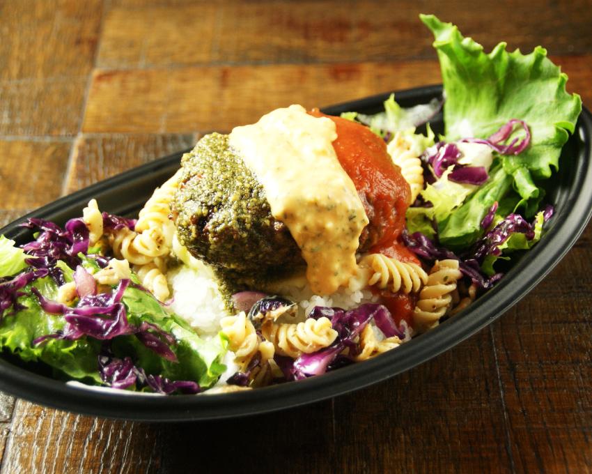 世界を旅するハンバーグ丼 欲張り3種のソース・イタリアン テイクアウト 勝どきハンバーグ&ステーキR